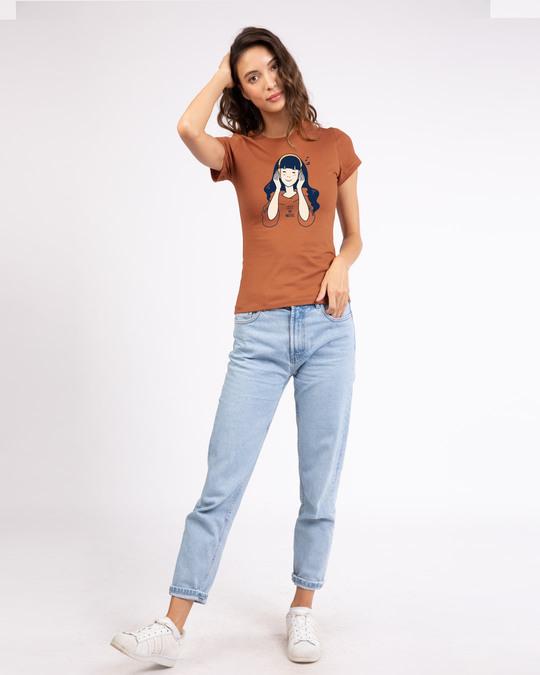 Shop Girl Lost In Music Half Sleeve T-Shirt-Design