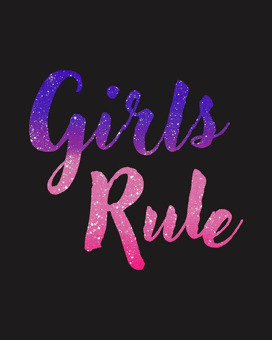 Shop Girls Rule Round Neck 3/4th Sleeve T-Shirt