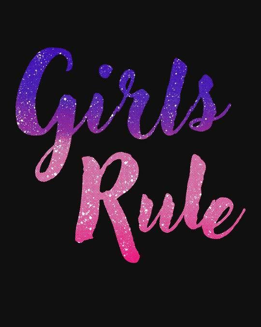 Shop Girls Rule Scoop Neck Full Sleeve T-Shirt-Full
