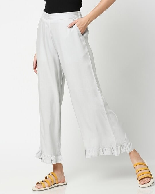 Shop Women's Ethnic Palazzo with Frill at Hem-Back