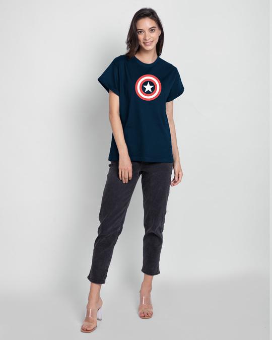 Shop Glowing Avenger Boyfriend T-Shirt (AVL) (GID)-Full