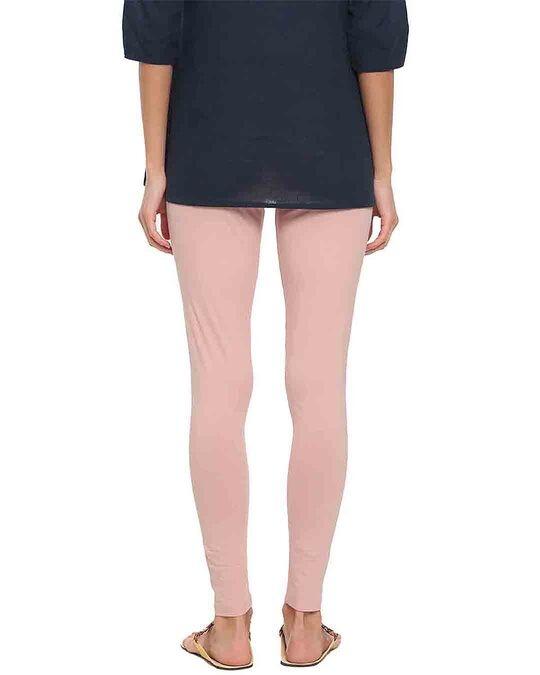 Shop Go Colors Baby Pink Ankle Length Legging-Design