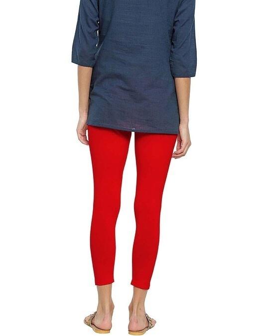 Shop Go Colors Women Dark Red 7/8 Legging-Design