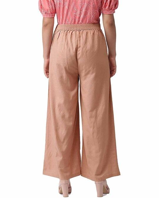 Shop Go Colors Dusty Pink Linen Palazzo-Design