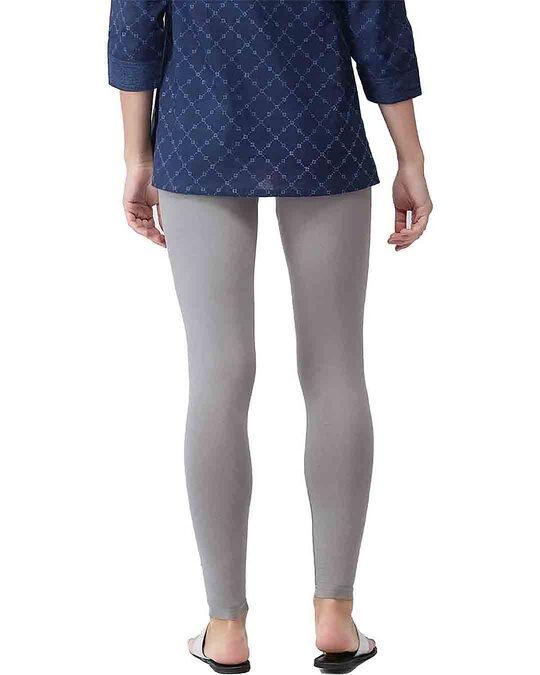 Shop Go Colors Ebony Grey Ankle Length Legging-Design