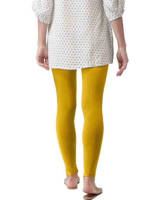 Shop Go Colors Light Mustard Ankle Length Legging-Design