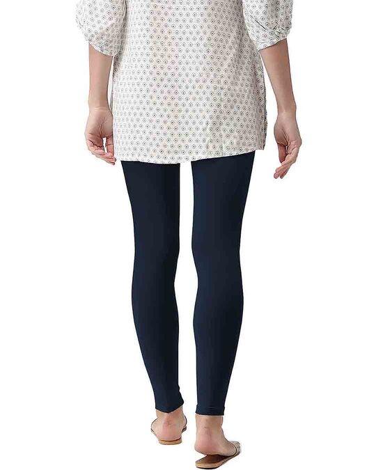 Shop Go Colors Navy Ankle Length Legging-Design