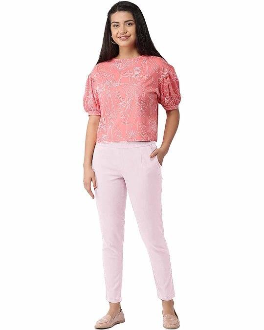 Shop Go Colors Pink Mist Denim Jeggings-Full