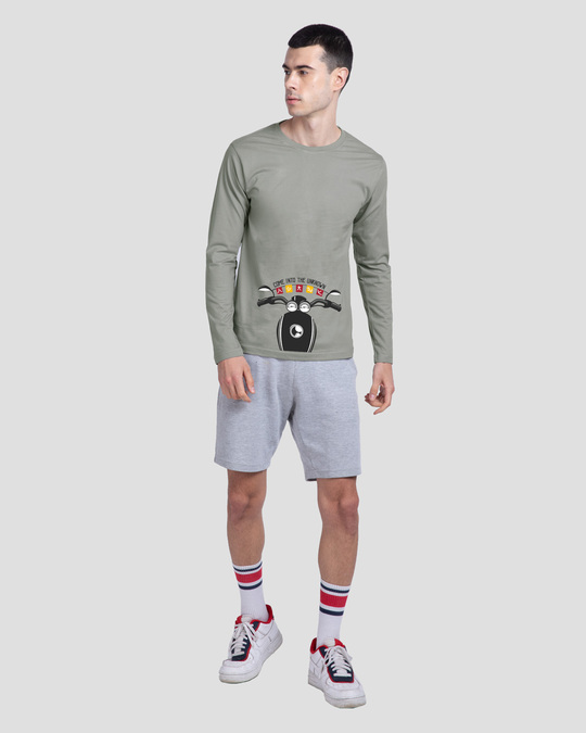 Shop Go Into The Unknown Full Sleeve T-Shirt Meteor Grey-Full