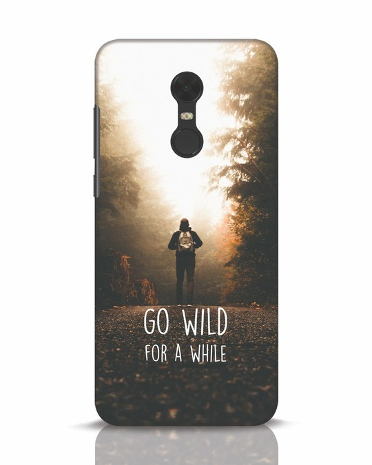 Shop Go Wild For A While Xiaomi Redmi Note 5 Mobile Cover-Front