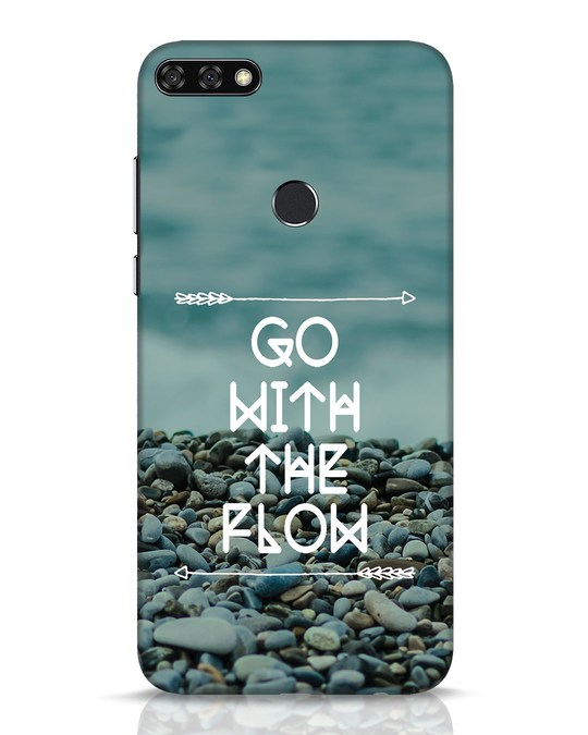 Shop Go With The Flow Huawei Honor 7C Mobile Cover-Front
