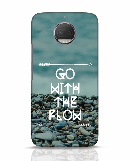 Shop Go With The Flow Moto G5s Plus Mobile Cover-Front