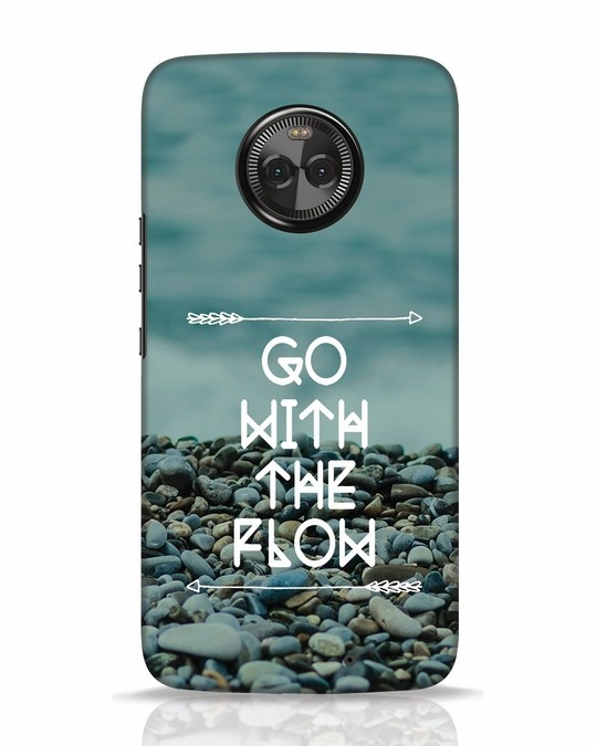 Shop Go With The Flow Moto X4 Mobile Cover-Front