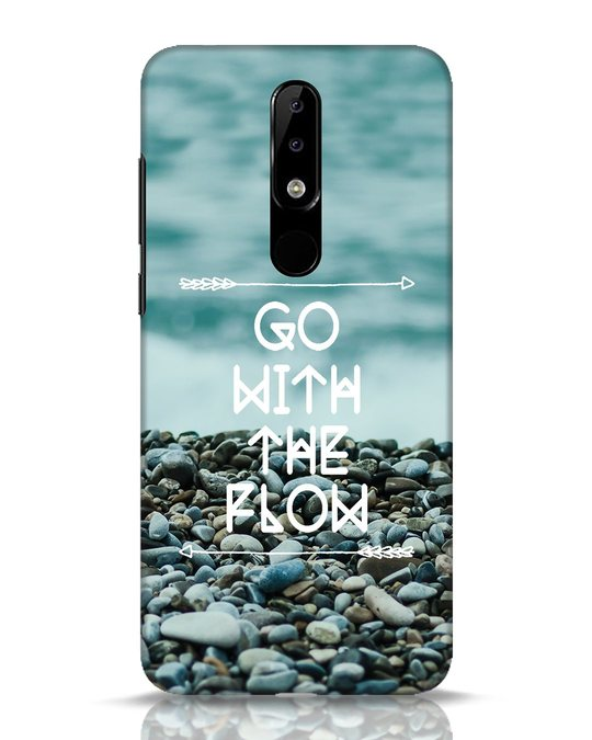 Shop Go With The Flow Nokia 5.1 Plus Mobile Cover-Front