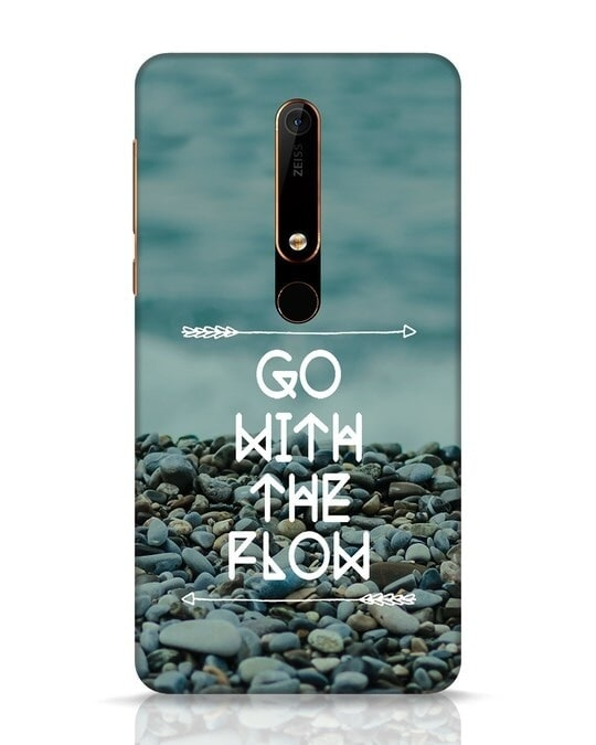 Shop Go With The Flow Nokia 6.1 Mobile Cover-Front