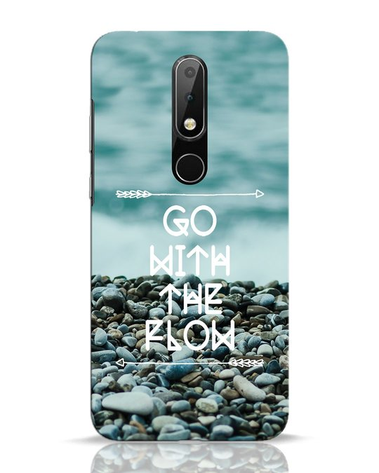 Shop Go With The Flow Nokia 6.1 Plus Mobile Cover-Front