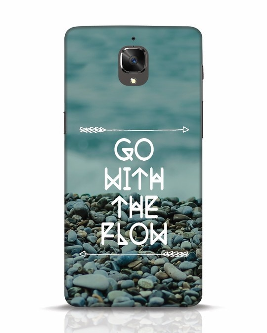 Shop Go With The Flow OnePlus 3T Mobile Cover-Front