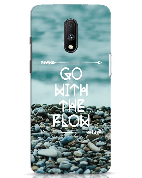 Shop Go With The Flow OnePlus 7 Mobile Cover-Front