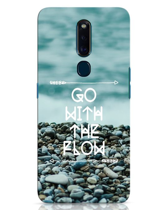 Shop Go With The Flow Oppo F11 Pro Mobile Cover-Front