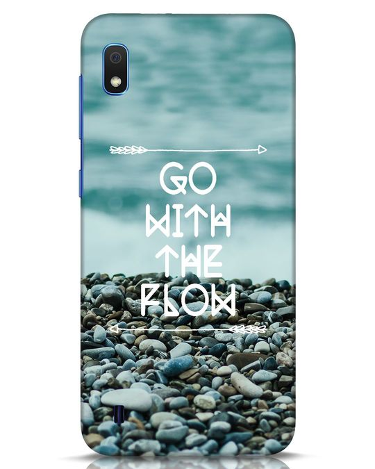 Shop Go With The Flow Samsung Galaxy A10 Mobile Cover-Front