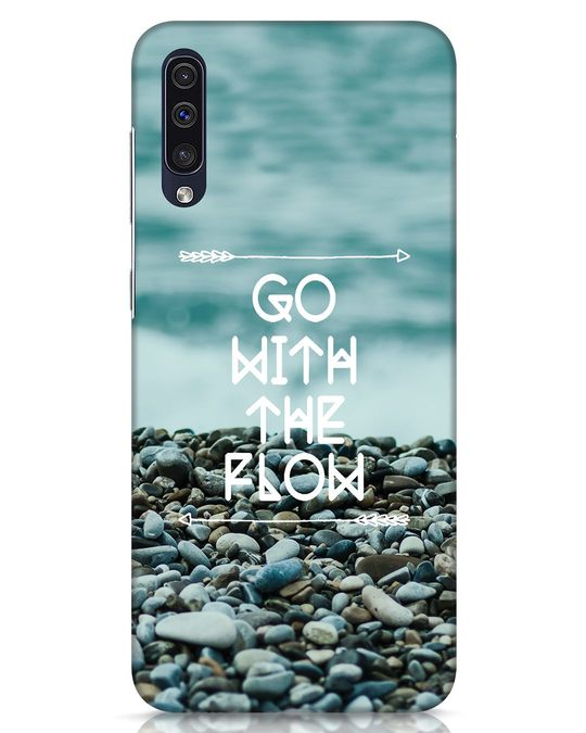 Shop Go With The Flow Samsung Galaxy A50 Mobile Cover-Front
