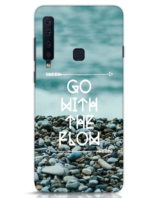 Shop Go With The Flow Samsung Galaxy A9 2018 Mobile Cover-Front