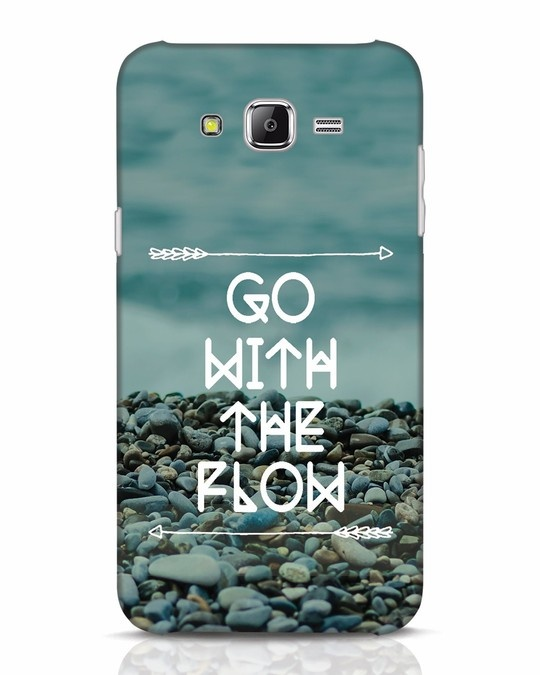 Shop Go With The Flow Samsung Galaxy J7 Mobile Cover-Front