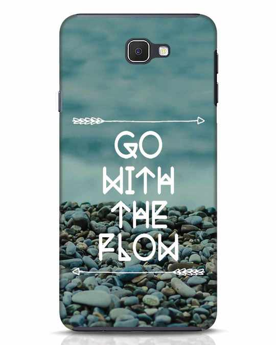 Shop Go With The Flow Samsung Galaxy J7 Prime Mobile Cover-Front