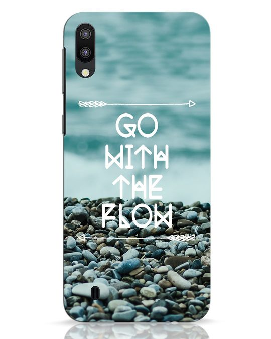 Shop Go With The Flow Samsung Galaxy M10 Mobile Cover-Front