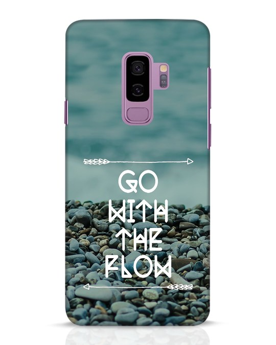 Shop Go With The Flow Samsung Galaxy S9 Plus Mobile Cover-Front
