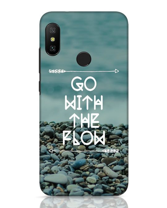 Shop Go With The Flow Xiaomi Redmi 6 Pro Mobile Cover-Front
