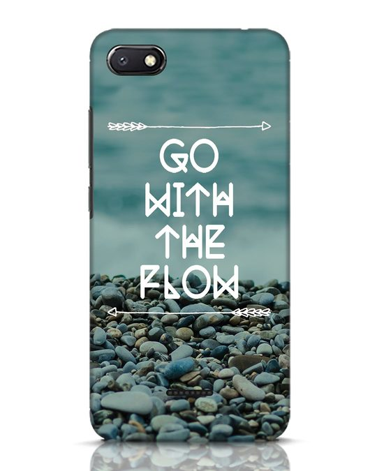 Shop Go With The Flow Xiaomi Redmi 6A Mobile Cover-Front