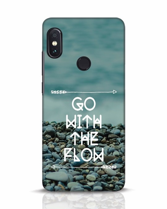 Shop Go With The Flow Xiaomi Redmi Note 5 Pro Mobile Cover-Front