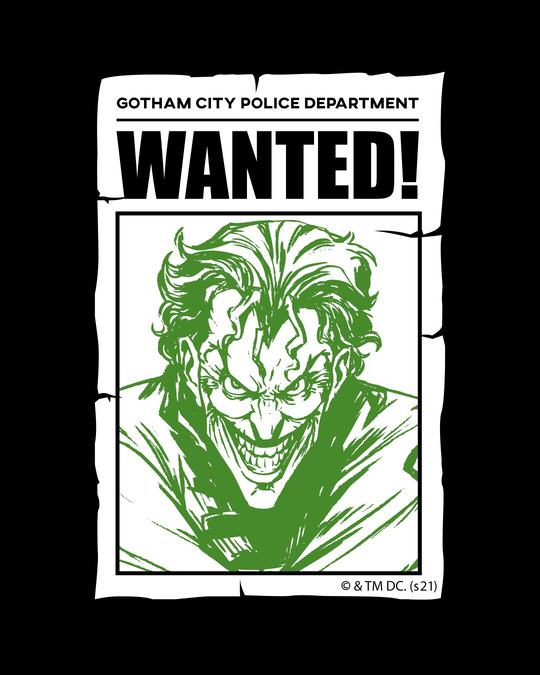 Shop Gotham's Most Wanted Half Sleeve T-Shirt (BML)