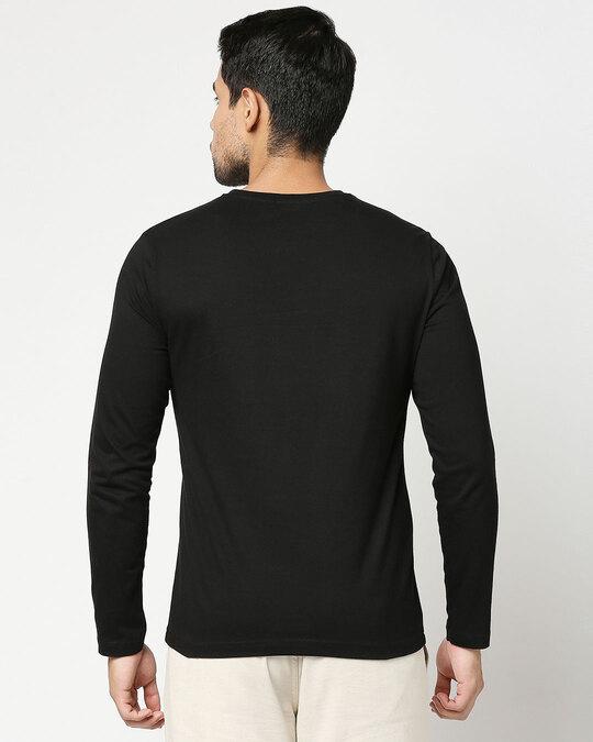 Shop Goin Offline Full Sleeve T-Shirt Black-Back
