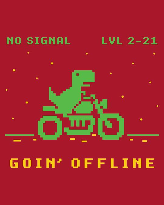 Shop Goin Offline Full Sleeve T-Shirt Bold Red-Full