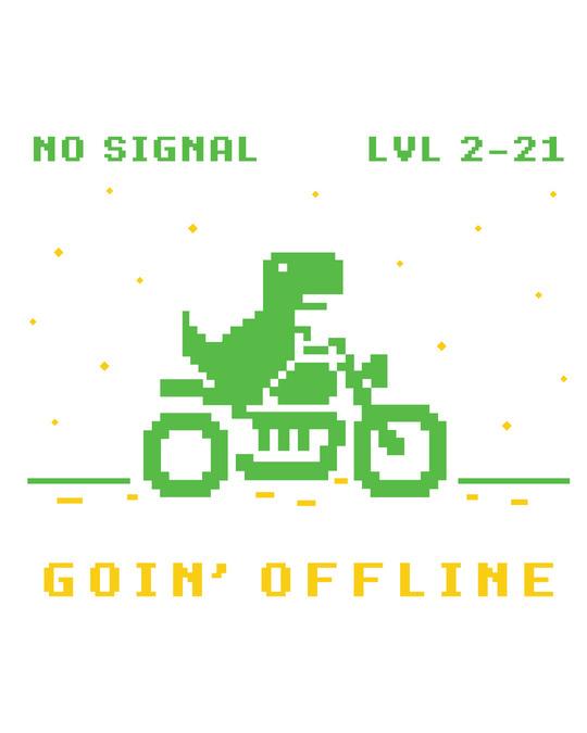 Shop Goin Offline Half Sleeve T-Shirt White-Full
