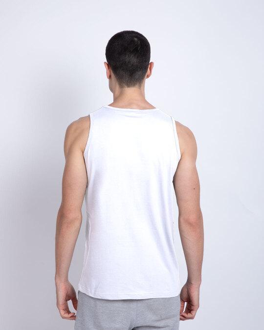 Shop Goin Offline Round Neck Vest White-Back