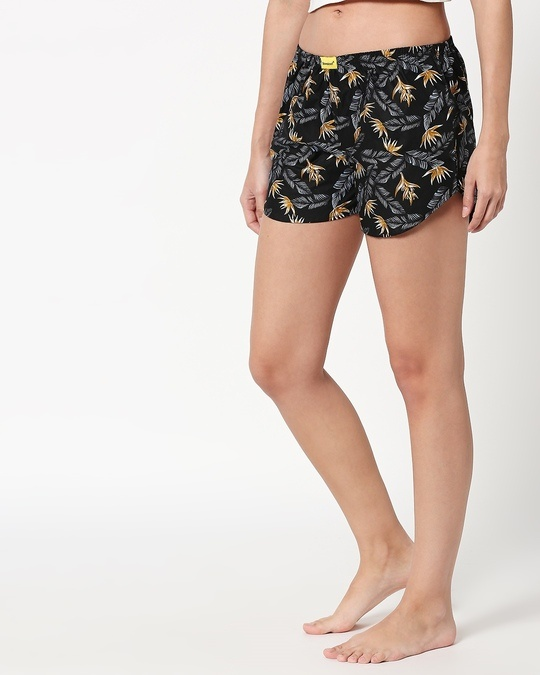 Shop Golden Orchid Women's Printed Boxers-Full