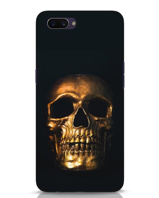 Shop Golden Skull Oppo A3S Mobile Cover-Front