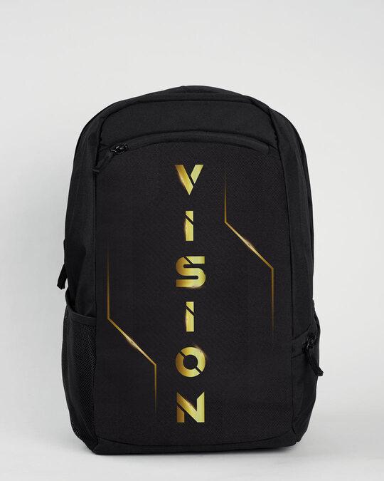 Shop Golden Vision Laptop Bag Black-Front