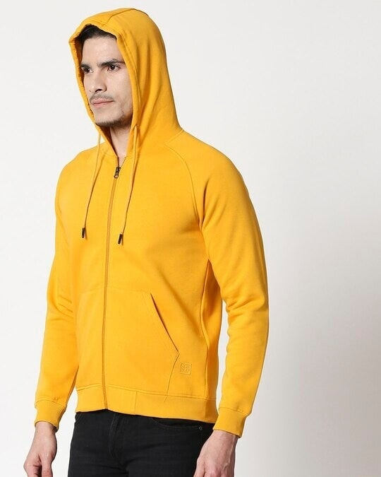 Shop Golden Yellow Zipper Hoodie-Design