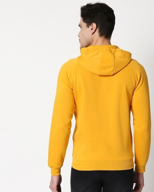 Shop Golden Yellow Zipper Hoodie-Full