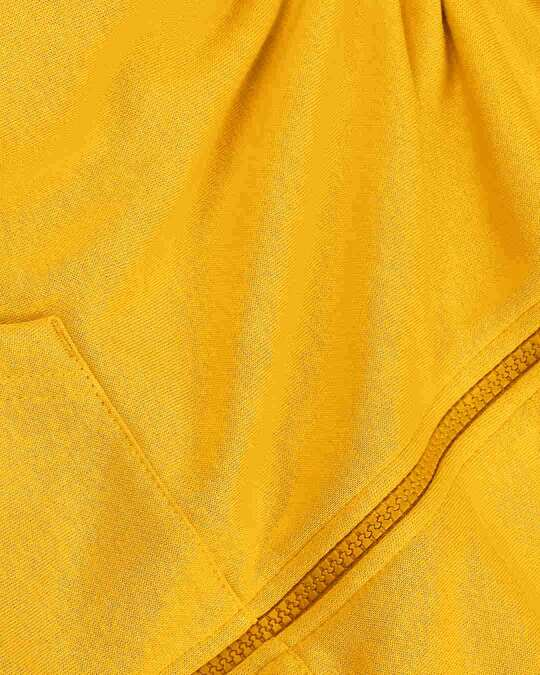 Shop Golden Yellow Zipper Hoodie
