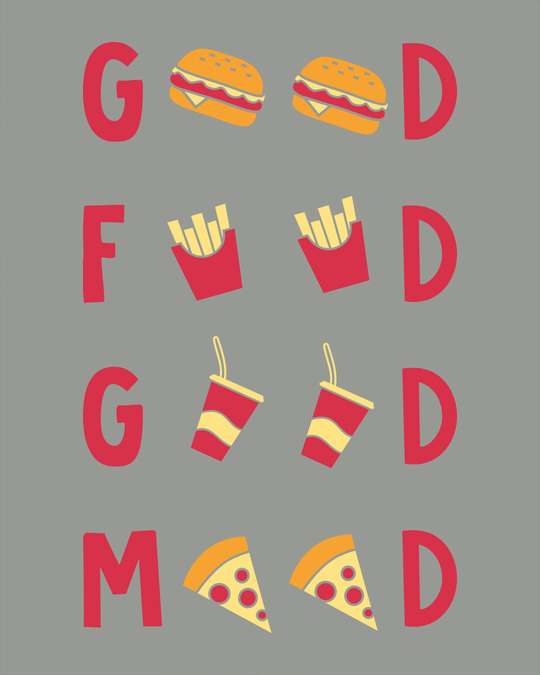 Shop Good Food Good Mood Boyfriend T-Shirt