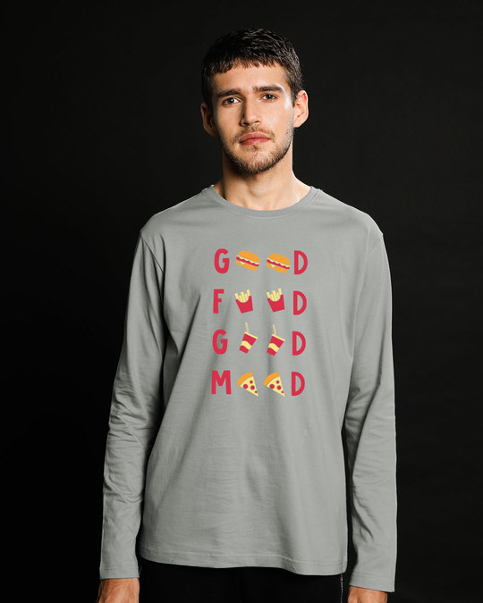 Shop Good Food Good Mood Full Sleeve T-Shirt-Front