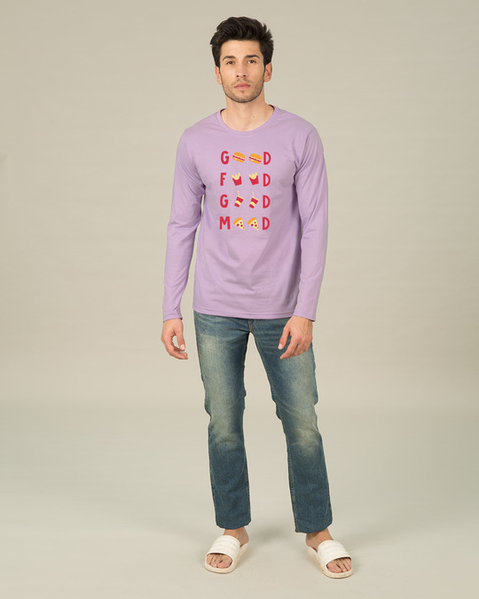 Shop Good Food Good Mood Full Sleeve T-Shirt-Full