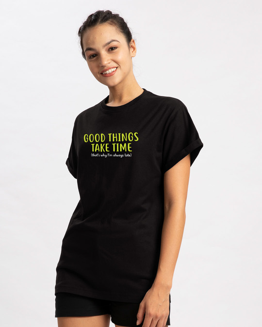Shop Good Things Boyfriend T-Shirt-Design