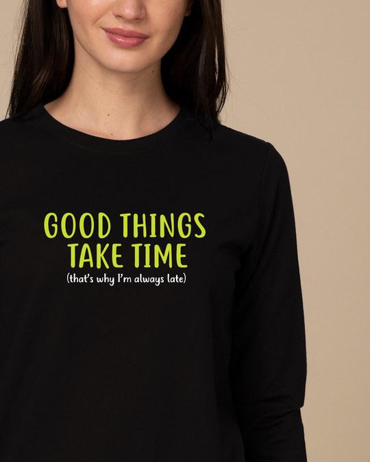 Shop Good Things Sweatshirt-Front