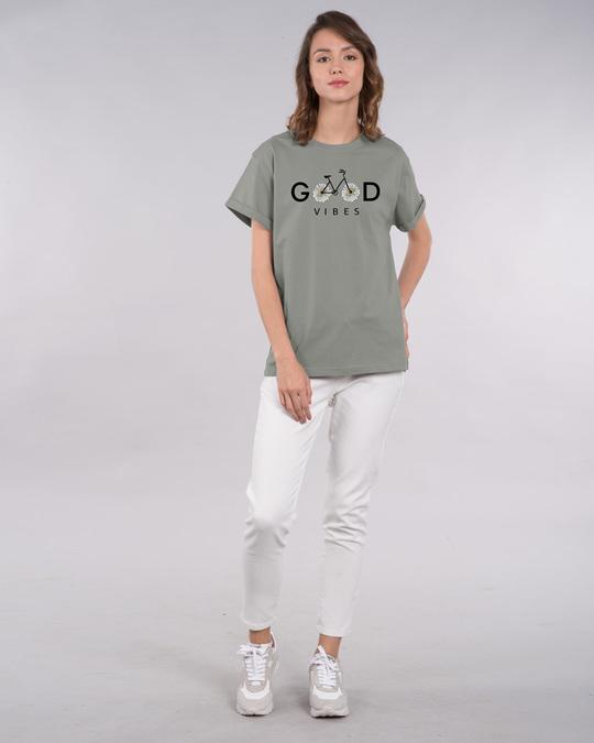 Shop Good Vibes Bicycle Boyfriend T-Shirt-Design